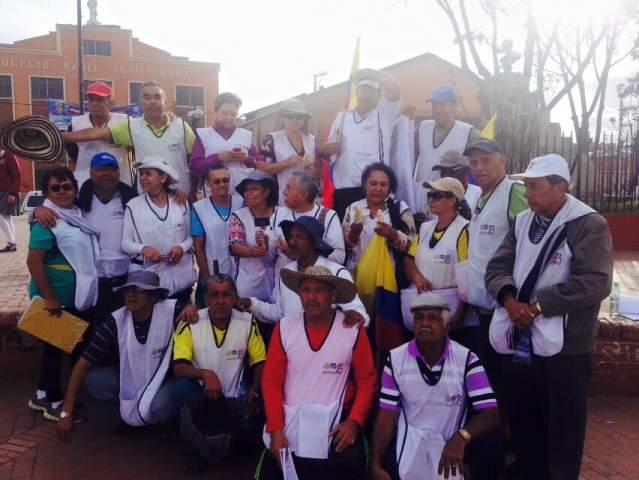 Marcha de pensionados y adultos mayores llega a Bogotá