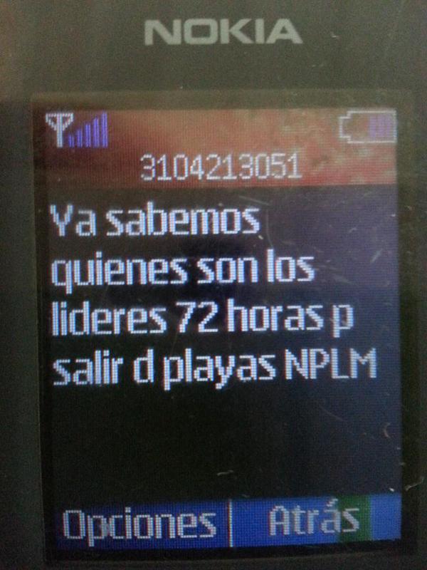 Amenaza a los teléfonos de Ríos Vivos