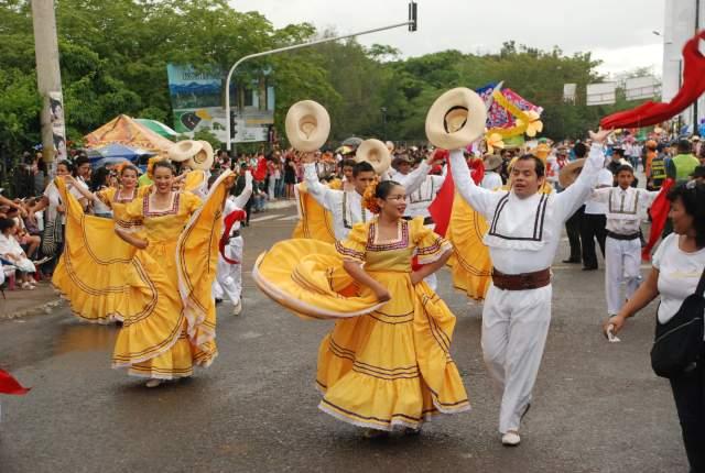 Manifestación cultural en defensa del territorio de Quimbo, Huila