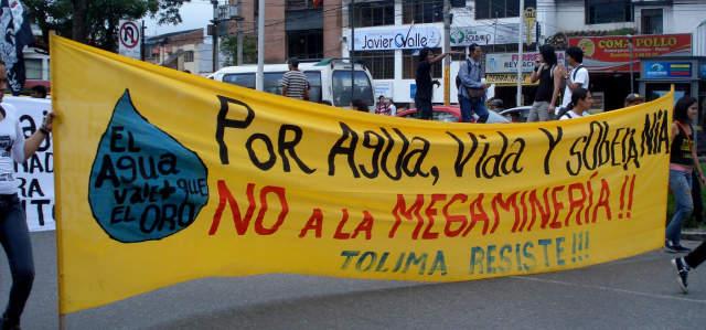 Amenazan nuevamente a opositores del proyecto minero La Colosa