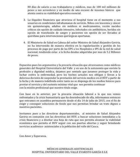 Carta Abierta HUV 2