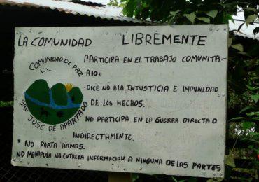 Oenegés cuestionan a Corte Constitucional por fallo contra Comunidad de Paz de San José