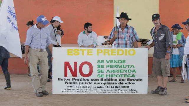 Agreden a reclamantes de tierras y defensores de DDHH en Puerto Gaitán