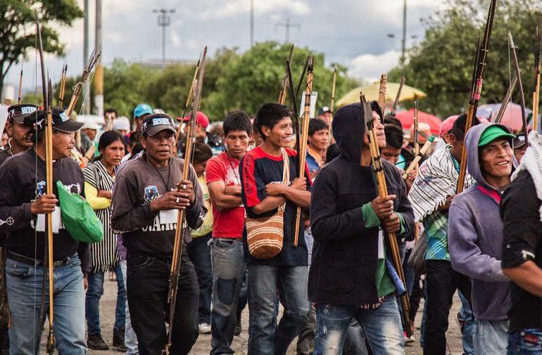 En jornada de #Agroindignados comunidades indígenas exigen el cese de la estigmatización