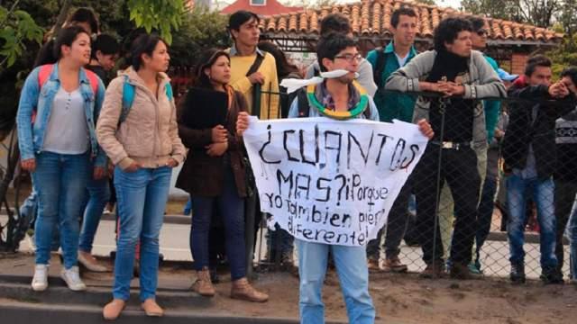 25 efectivos del ESMAD y 50 Policías desalojan a estudiantes de la UPTC