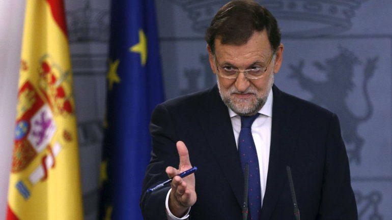 Rajoy buscará impugnar resolución independentista de Cataluña