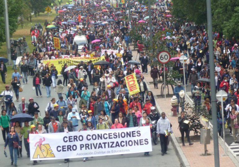 Estas son las razones de la movilización en Bogotá
