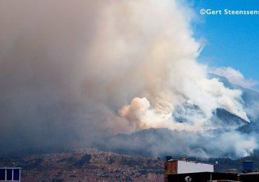 Prácticas militares habrían provocado incendio en cerros orientales de Bogotá