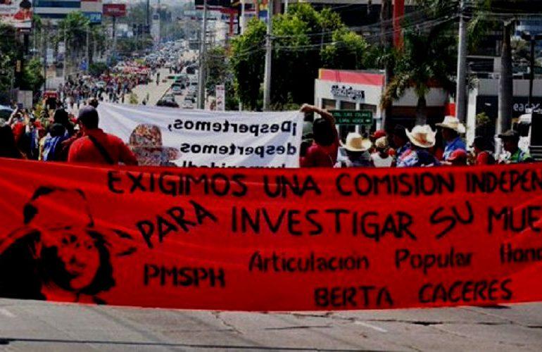 Misión internacional pide acelerar investigación por crimen de Berta Cáceres