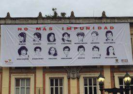 Tejiendo, familiares conmemoran 33 años del Palacio de Justicia