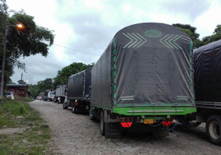 Transportadores de carga pesada se suman a la Minga Nacional