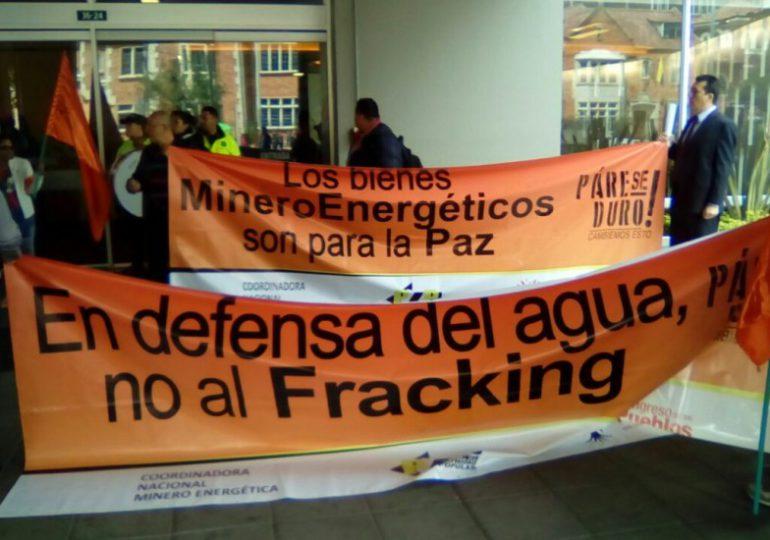 Minga Nacional se toma instalaciones de Ecopetrol en Bogotá