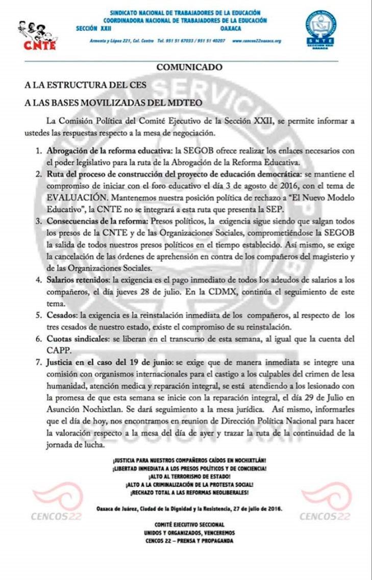 Acuerdo CNTE
