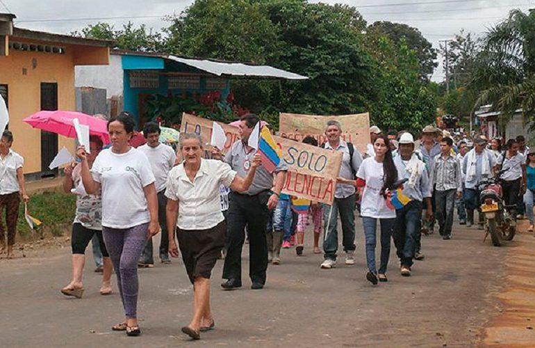 Campesinos se movilizan para rechazar operaciones de Emerald Energy en Caquetá