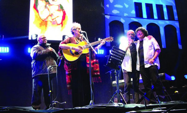 Tres grandes de la música de gira por la paz de Colombia