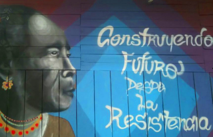 Mural en homenaje a la lideresa Maria Ligia Chaverra