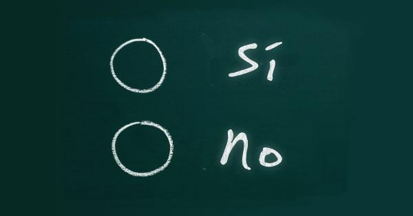 El Sí y el no, un falso dilema