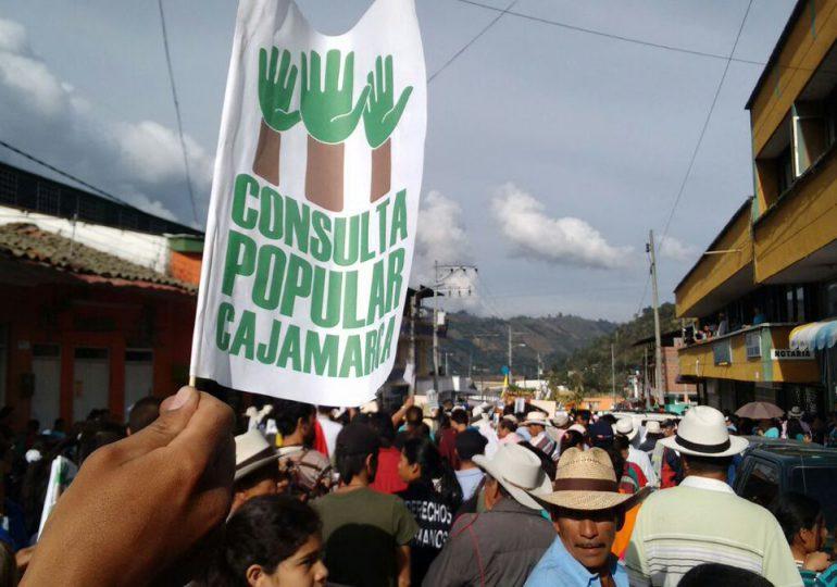 No a la minería en Cajamarca: CORTOLIMA