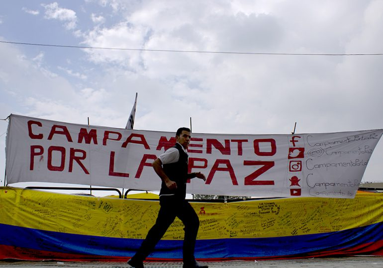 Alcaldía de Bogotá desaloja Campamento por la paz