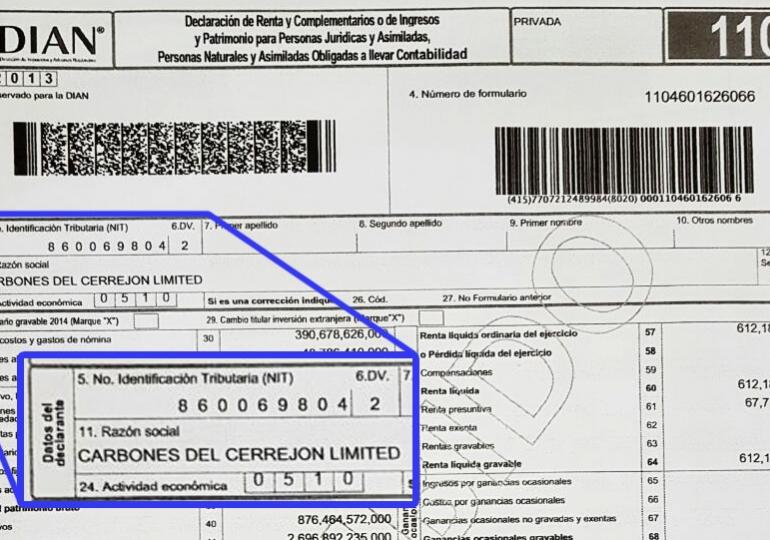 Empresas mineras no pagan impuestos de renta en Colombia