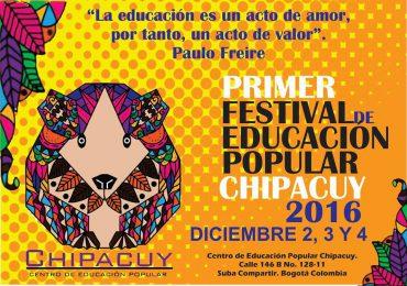 Llega la primera versión del Festival de Educación Popular