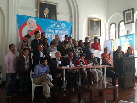 Comités de revocatoria a Peñalosa denuncian hostigamientos