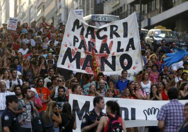 Macri ordena impedir el paso de la movlización de sindicatos en Argentina