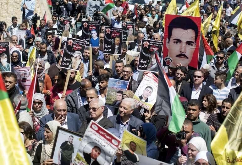 1500 palestinos presos por Israel se declaran en huelga de hambre