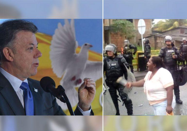 """El Nobel de paz """"en modo"""" represión en Buenaventura"""