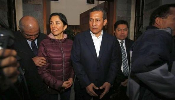 Humala y su esposa en prisión preventiva por caso Odebrecht