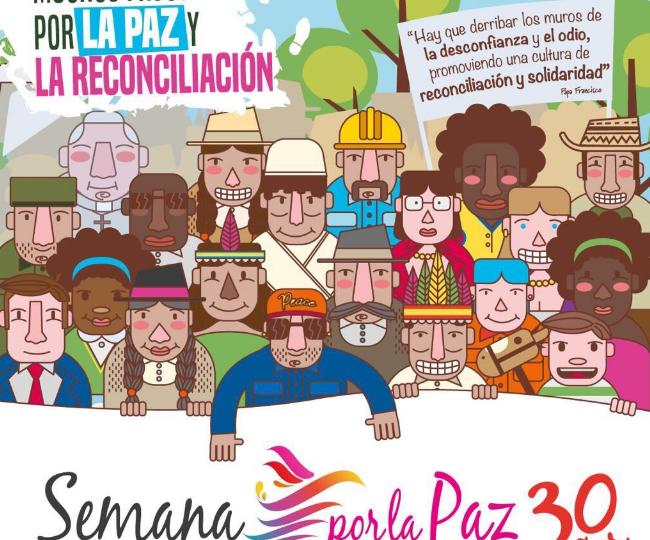 Reconciliación será el centro en la Semana por la Paz