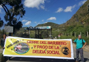 Habitantes de más de 100 barrios del Sur de Bogotá protestan contra relleno Doña Juana