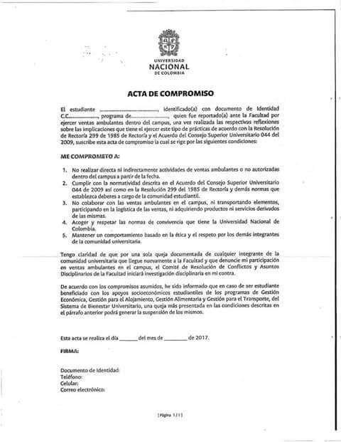 Acta Universidad Nacional