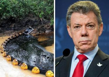 Exigen presencia de Santos ante derrame de crudo la Lizama