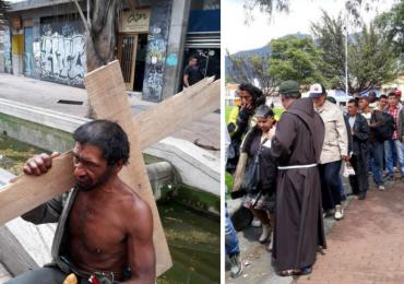 El viacrucis de los habitantes de calle de Bogotá en Semana Santa