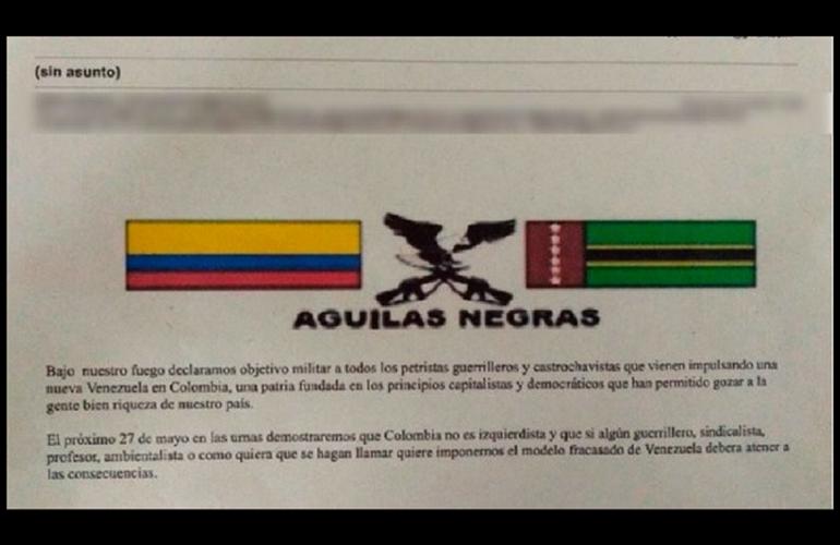 Defensores de DDHH del Tolima amenazados ante intención de voto por Gustavo Petro