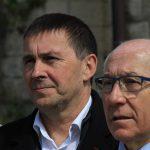 Arnaldo Otegi y Jean René Etchegaray, alcalde de Bayona