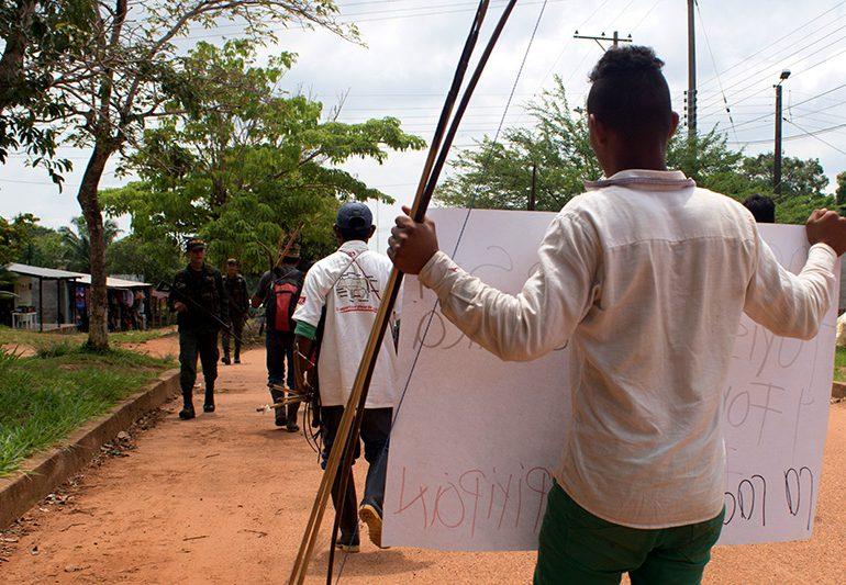 Indígenas Sikuani víctimas de despojo de tierras en El Porvenir, Meta