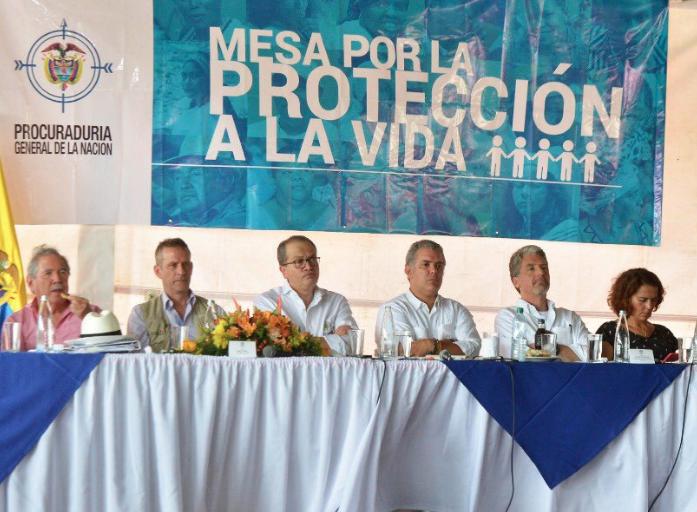 Pacto por la vida se firmó excluyendo a líderes que están en riesgo