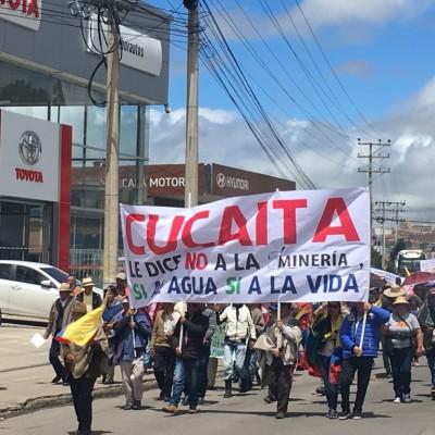 Más agua y menos carbón, la pelea de la comunidad de Cucaita con la minería