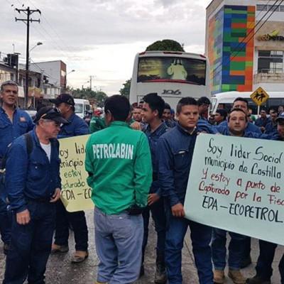 7 líderes son estigmatizados y encarcelados por protestar contra Ecopetrol