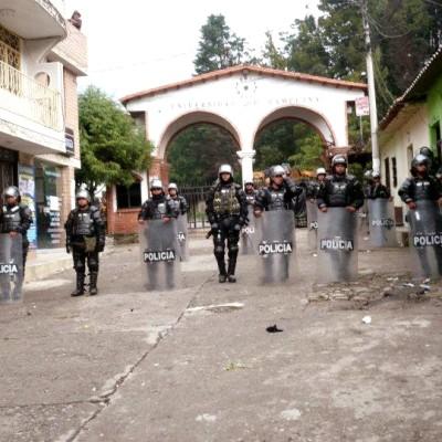 Estudiantes detenidos por protestar en la Universidad de Pamplona