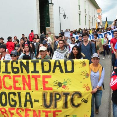 Reunión con Consejo Superior de la UPTC definirá continuidad del paro de sus estudiantes