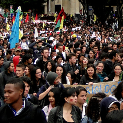 Profesores se suman a la gran movilización estudiantil del 10 de octubre