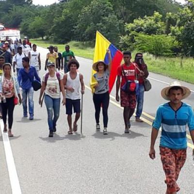 Marchando campesinos de Bolívar exigen condiciones dignas de vida