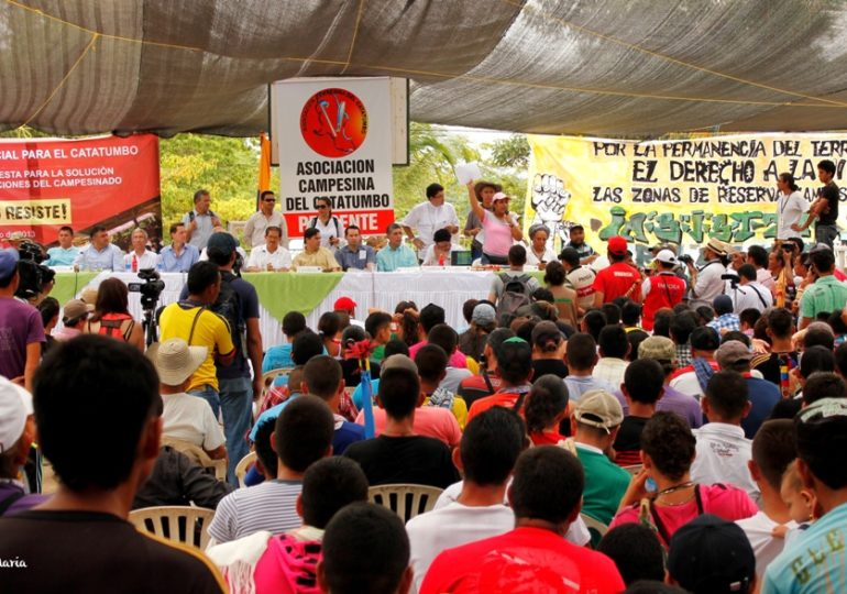 Peasant Association of Catatumbo has no guarantees to participate to the National Strike