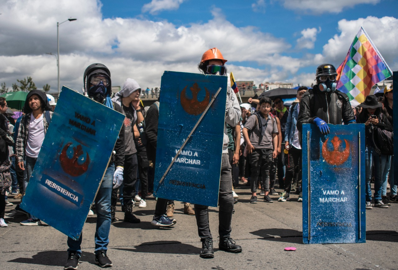 The Front Line: Protesters' new defense against police attacks