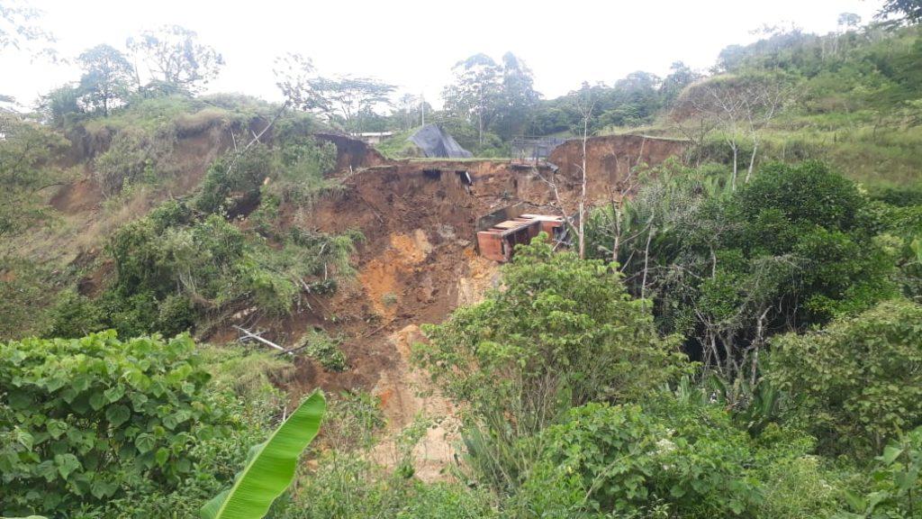 Derrumbe de tierra
