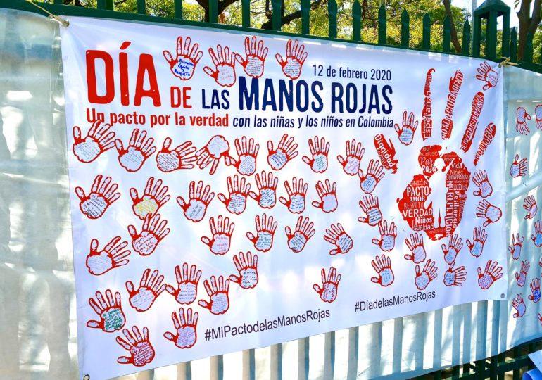 Nunca más niños, niñas o adolescentes en la guerra: Día de las Manos Rojas