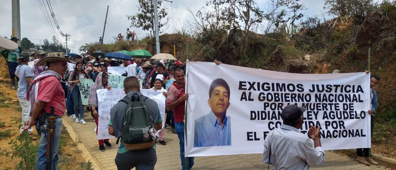 Campesinos exigen que Ejército diga la verdad del asesinato de Didian Agudelo